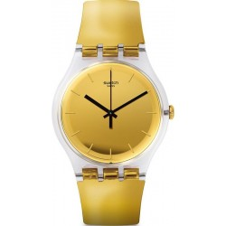 Unisex Swatch Watch New Gent Goldenall SUOK120