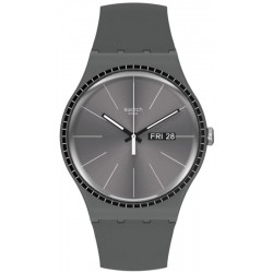 Unisex Swatch Watch New Gent Grey Rails SUOM709