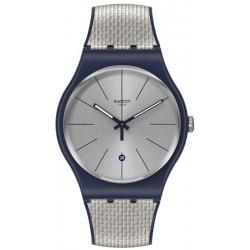 Unisex Swatch Watch New Gent Grey Cord SUON402