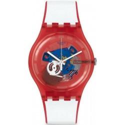 Unisex Swatch Watch New Gent Clownfish Red SUOR102
