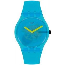Unisex Swatch Watch New Gent Ocean Blur SUOS112