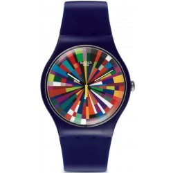 Unisex Swatch Watch New Gent Color Explosion SUOV101