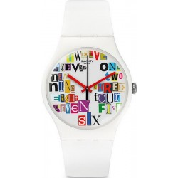 Unisex Swatch Watch New Gent Multi Collage SUOW132