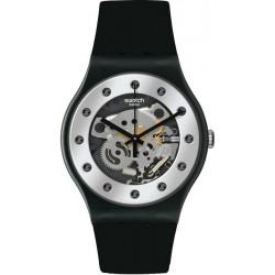 Unisex Swatch Watch New Gent Silver Glam SUOZ147