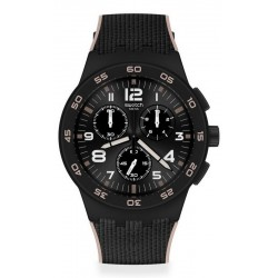Buy Mens Swatch Watch Chrono Plastic Black Cord SUSB106