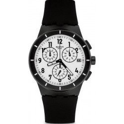 Buy Unisex Swatch Watch Chrono Plastic Twice Again Black SUSB401 Chronograph
