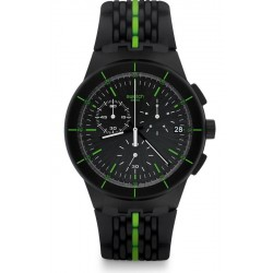 Buy Men's Swatch Watch Chrono Plastic Laser Track SUSB409 Chronograph