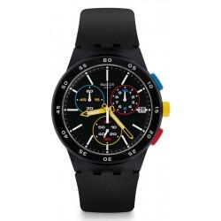 Buy Unisex Swatch Watch Chrono Plastic Black-One SUSB416