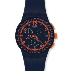 Buy Unisex Swatch Watch Chrono Plastic Rebirth Blue SUSN401 Chronograph