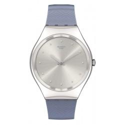 Women's Swatch Watch Skin Irony Blue Moire SYXS134