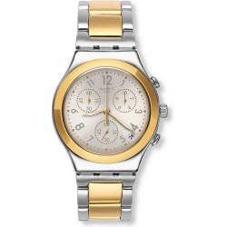 Unisex Swatch Watch Irony Chrono Dreamnight Golden YCS590G Chronograph