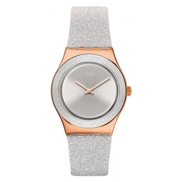 Buy Womens Swatch Watch Irony Medium Grey Sparkle YLG145