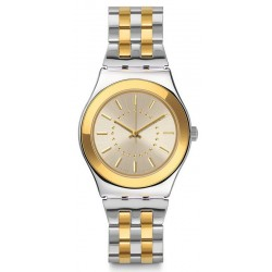 Women's Swatch Watch Irony Medium Goldensilver YLS207G