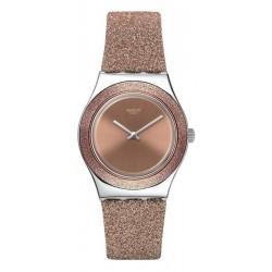 Women's Swatch Watch Irony Medium Rose Sparkle YLS220