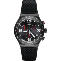 Men's Swatch Watch Irony Chrono Black Is Back YVB403 Chronograph