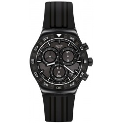 Men's Swatch Watch Irony Chrono Teckno Black YVB409 Chronograph