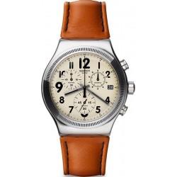 Men's Swatch Watch Irony Chrono Leblon YVS408 Chronograph