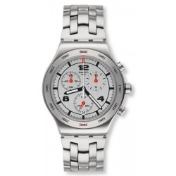 Unisex Swatch Watch Irony Chrono Silver Again YVS447G Chronograph