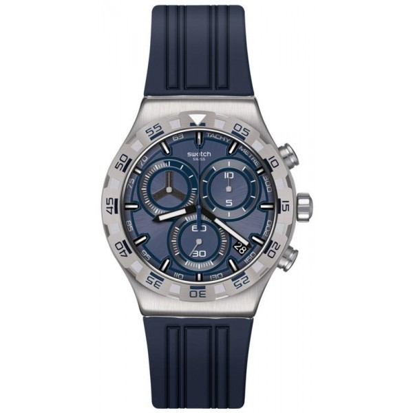 Buy Mens Swatch Watch Irony Chrono Teckno Blue YVS473 Chronograph