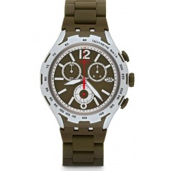 Men's Swatch Watch Irony Xlite Green Attack YYS4022AG Chronograph