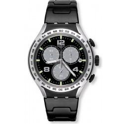 Men's Swatch Watch Irony Xlite Night Attack YYS4026AG Chronograph
